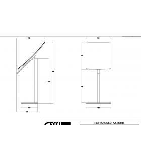 Griglia doccia doppia da appendere, Lineabeta, Serie Filo, Modello 500