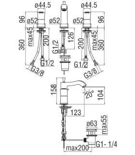 Toilet seat with normal closure Simas Eco
