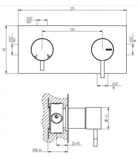 Vaso wc filo parete a pavimento, Simas serie Degrade'