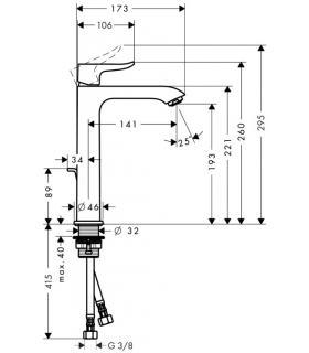 HATRIA mensola con inclinazione meccanica per lavabo serie Autonomy ar