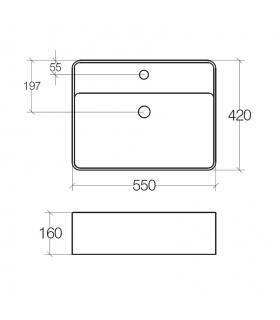 Square spout mixer Purifier and hot water for sink Red Grohe