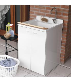 Lavatoio con mobile, Geromin collezione Forte profondita' 60 cm art.70