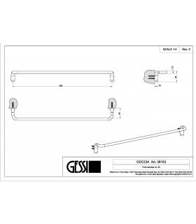 Bathroom dustbin, Lineabeta, collection Basket, model 53297, with cover, polished stainless steel