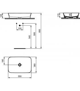 Vasca idromassaggio destra con porta For All bianco bocchette cromo ma