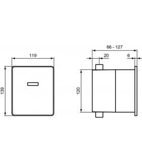 Sedile Colbam con cerniere cromo Ideal Standard Acquatonda 2811.