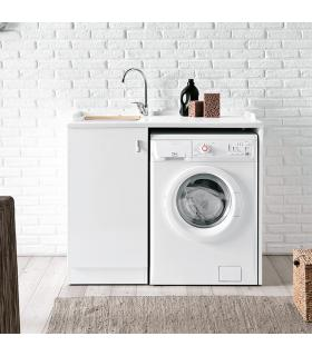 Cuve a'laver avec Meuble et porte machine a' laver, Geromin collection Smart