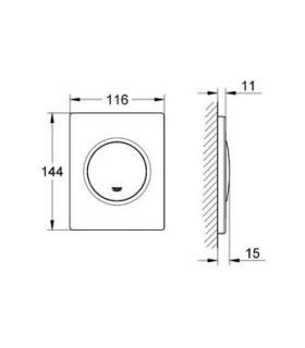 Siphon Receveur douche avec bonde 50 mm, Geberit