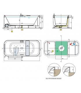 Lavatoio in ABS a parete, Geromin serie Geo/Wall da esterno