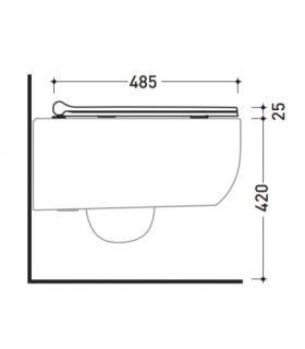Miroir RCR salle de bain filo poli H70cm