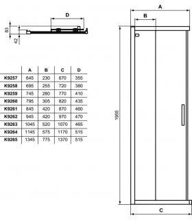 Mirror with upper lighting T5 Koh-I-Noor