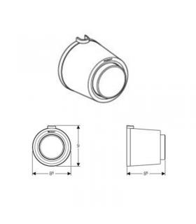 Towel rail with dispenser Colombo collection land b2874 chrome.
