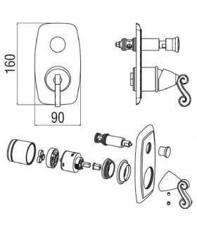 Sgabelli, Lineabeta, Serie Scagni, Modello 54709, metallo colore scuro