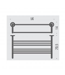 Toilet seat with normal closure ceramic Dolomite Ebla