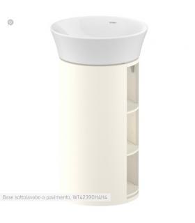 Geromin 7003PRIMACL lavatoio e base 2 ante 60x60cm con cesto, bianco