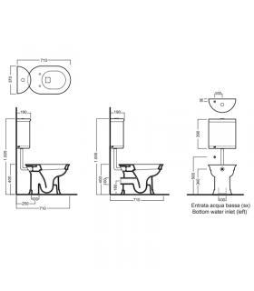 Vasca idromassaggio sinistra con porta For All bianco bocchette cromo