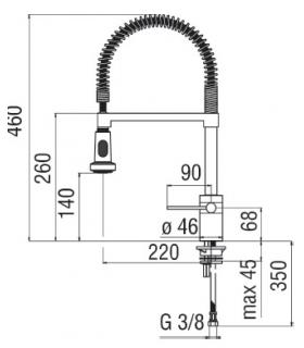 Bathroom dustbin, Lineabeta, collection Basket, model 53298, with cover, polished stainless steel