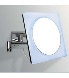 Magnifying mirror wall hung Colombo with led lighting chrome