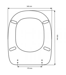 Toilet seat with normal closure Ideal Standard Tesi