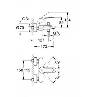 Zehnder toga tg-180-045- scaldasalviette all. S035 bianco standard.