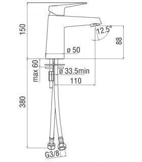 Tuile  pour le revêtement Marazzi série Fresco 33x98 micromos 3D