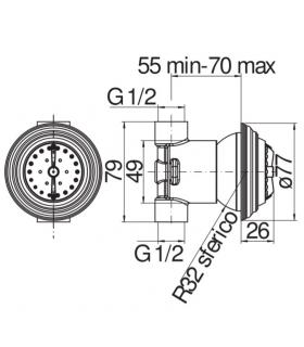 Tabouret, Lineabeta, collection Canavera, modèle 81119, bambu'