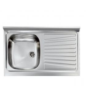 CM stainless steel sink, 1 bowl, 90x50 left