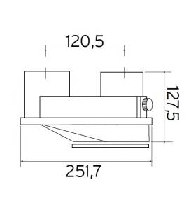 Kit episse' reconduir  fumees standard, diametre 80/80 pour turboMAG Vaillant 303847
