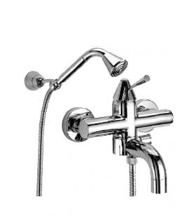 External bathtub mixer, with hand shower, FIR Tilo