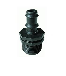 Raccordement avec porte tuyau caoutchouc Tuyau 16mm pour1/2'' M
