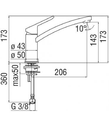 Bampi CLUNA000 esternal cistern, 1 button