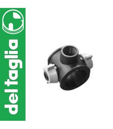 Angled lockshield valve Caleffi, for iron