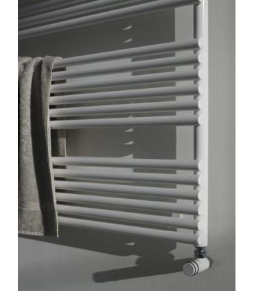 Rounded shower screen for bathtub, Ideal Standard Connect 2 / V1 collection art.T9924 width 80 cm height 140cm. The tub wall is