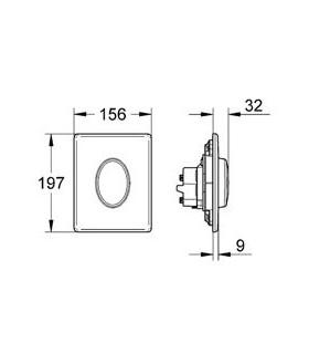 Bidet back to wall single hole, Flaminia, link Lk217
