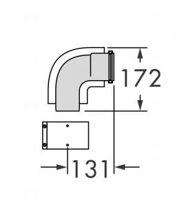 Kit curva 87', diametro 60/100 Vaillant 303910