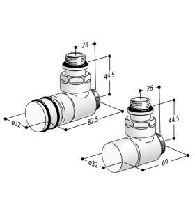 Grohe miscelatore esterno per doccia serie concetto 23061 cromo.