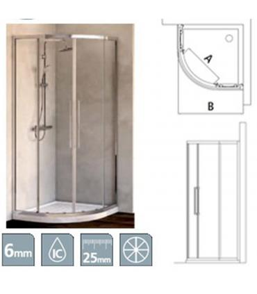 Cabine de douche angulaire rond, Ideal Standard collection Kubo R