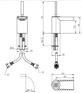 Raccord double Lira pour lave-vaisselle, raccordement diamètre 40 mm F 1''1 / 2