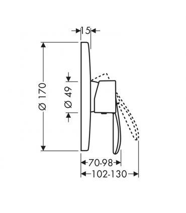 Column Washbasin, ceramic Flaminia, collection Fonte