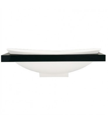 Bathtub shelf flaminia Io84m 1,200x90x13cm, oak/dark