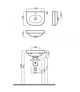 Wc back to wall, Flaminia, collection link white