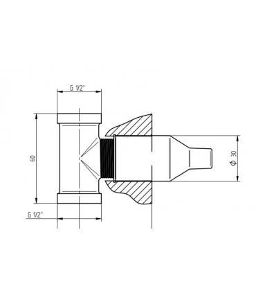 Support fixing wall mounted per Flaminia Miniwash