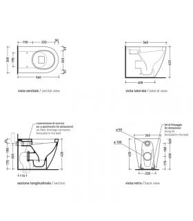 vaso wc filoparete Flaminia Link art.LK117