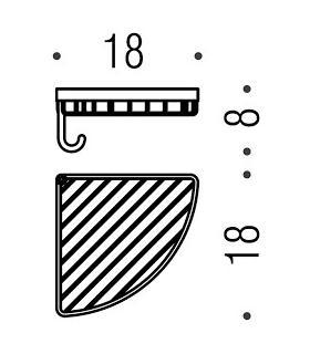 Porta salviette ad anello INDA Colorella 19x21 art.A2316T