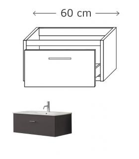 Vanity depth 45 cm, for washbasin 1 drawer, Inda collection City
