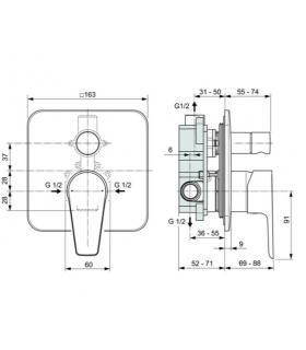 Kit gruppo allacciamento verticale per Gaudium Solar Immergas 3.020214