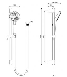Led mirror, Koh-i-noor with upper lighting