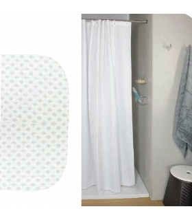 Koh-i-noor rideau de douche NIDO D'APE  effet de nid d'abeille blanc