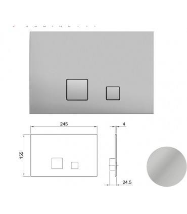 Flush plate with 2 buttons for cistern wc Fantini