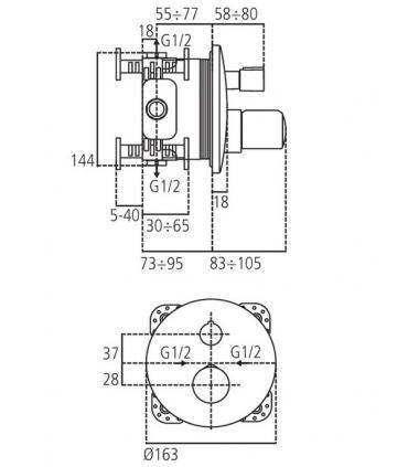 Angled lockshield valve Honeywell for copper/multilayer