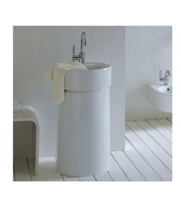 Wall hung column for washbasin, ceramic Flaminia collection Twin
